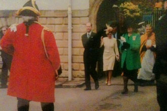 Greeting some royal visitors