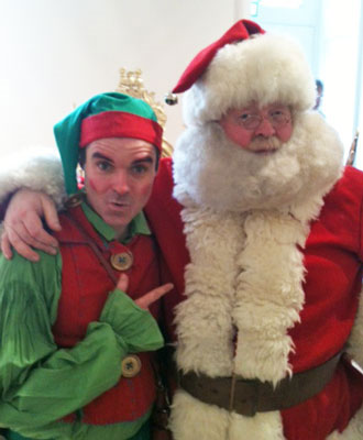 With my helper, the elf