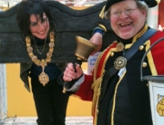 Putting the Mayor in the stocks - for Children in Need