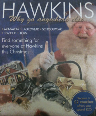 I'm in print - on the Hawkins of Hitchin Christmas poster campaign