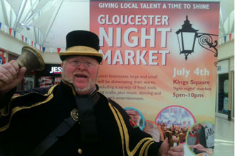 Helping to promote the Gloucester Night Market