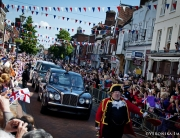 Leading the Queen's procession in Hitchin