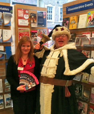 Helping out at the Gloucester Tourist Information Centre