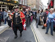 Leading the parade at the Covent Garden Rent Ceremony 2013