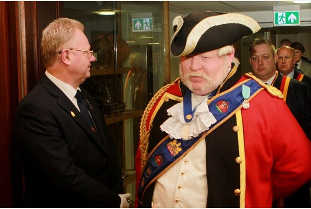 Alan Myatt becomes honorary Freeman of Gloucester - Alan Myatt enters the council chamber - 28.01.16  Picture by Carl Hewlett/TWM - Thousand Word Media Ltd
