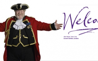 Breaking news: Town Crier plastered at Heathrow… and National Express too!