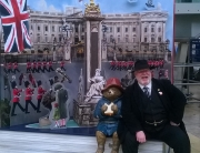 Alan Myatt with Paddington Bear