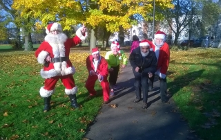 Helpers at Gloucester Santa Fun Run