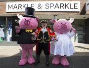 Alan with Percy and Penny pig