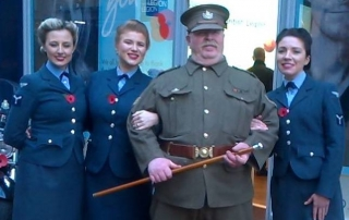 Alan at the Royal British Legion Poppy Appeal