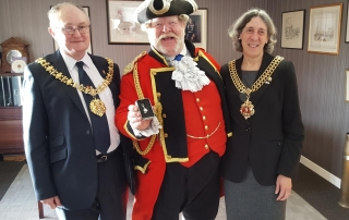 Alan Myatt with The Mayor of Gloucester and The Sheriff