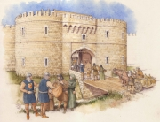 Gloucester city gates sketch