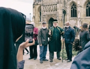 Alan at Gloucester Cathedral