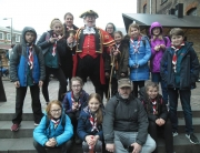 Alan Myatt with the Devon Scouts