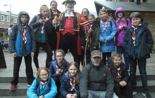 Alan Myatt with the Devon Scouts