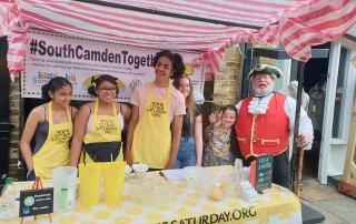 Alan Myatt in Camden Market with the team from Citrus Saturday