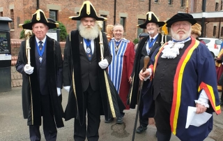 Alan Myatt with the Freemen of England and Wales