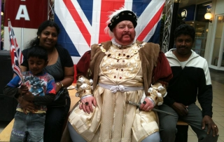 Alan Myatt as King Henry VIII