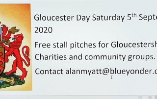 Alan's advert for Gloucester Day