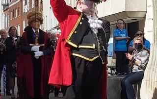 Alan Myatt celebrating Gloucester Day
