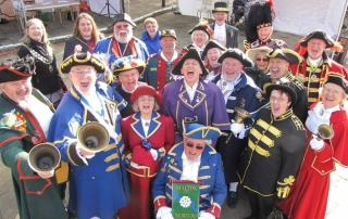 Town Criers gathering for the silent competition in 2021