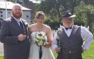 Alan's nephew and his wife on their wedding day